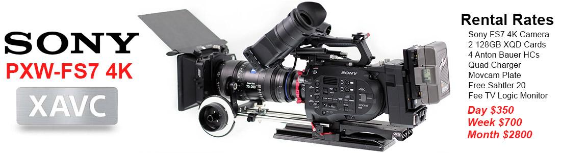 Sony PXW-FS7 Camera Rentals